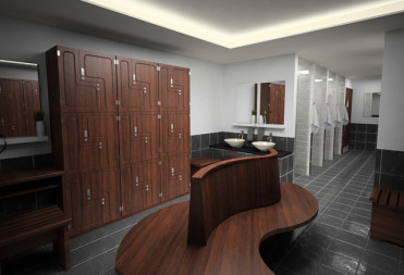Changing rooms at the sports club